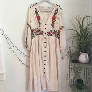 Anthropologie Dresses - Anthropologie Peasant Dress by Maeve Embroidered